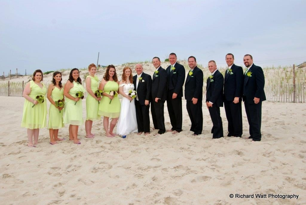 Bridal Party Yellow wedding colors