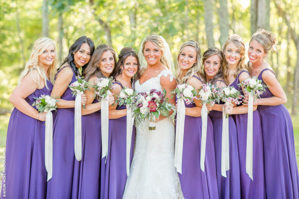bridal party color ideas